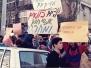 Protesting Abu Sha'aban arrest, Tel Aviv, March 1988