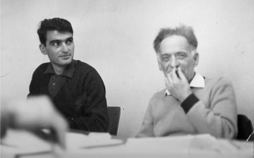 Jabra Nicola (right) with Moshe Machover, 1968