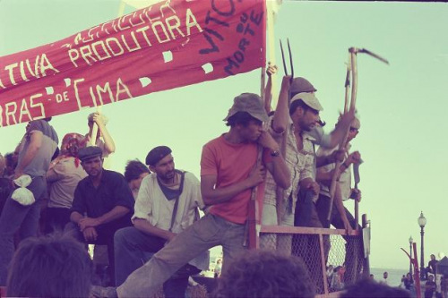הפגנת השמאל המהפכני בליסבון 1, פורטוגל, אוגוסט 1975 (צילום: אביבה עין-גיל)