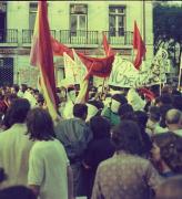 הפגנת השמאל המהפכני בליסבון 5, פורטוגל, אוגוסט 1975 (צילום: אביבה עין-גיל)