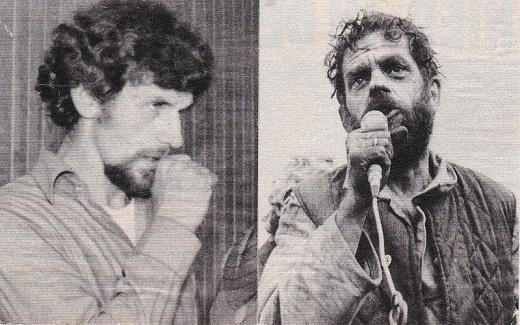 פעילי סולידאריות: אנדז'יי גוויאזדה (מימין) ובוגדאן ליס